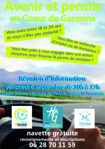 """Affiche """"avenir et permis"""" en Cœur de Garonne"""
